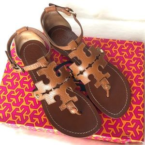 Tory Burch Tan Cognac Leather Sandal